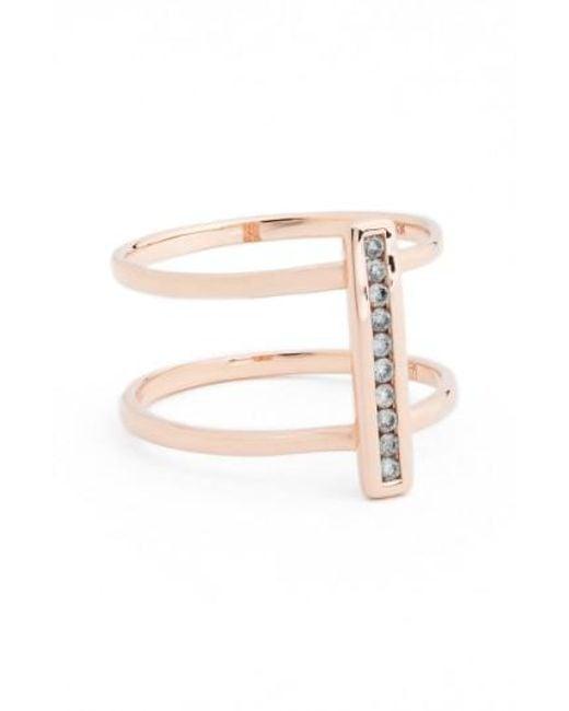 Anna Sheffield | Pink 'licol' Diamond Bar Ring | Lyst