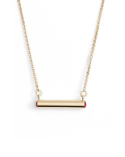 Stella Valle | Metallic Stella Vale July Crystal Bar Pendant Necklace | Lyst