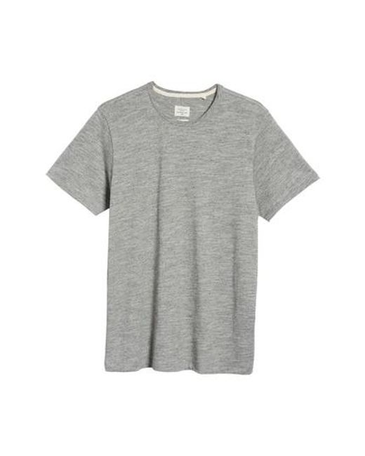 Rag & Bone | Gray Standard Issue 'moulinex' Crewneck T-shirt for Men | Lyst