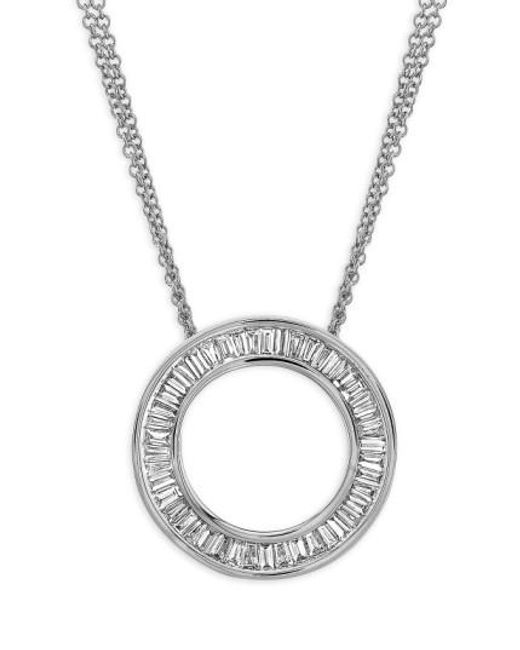 Bony Levy | White 'circle Of Life' Medium Diamond Pendant Necklace (nordstrom Exclusive) | Lyst