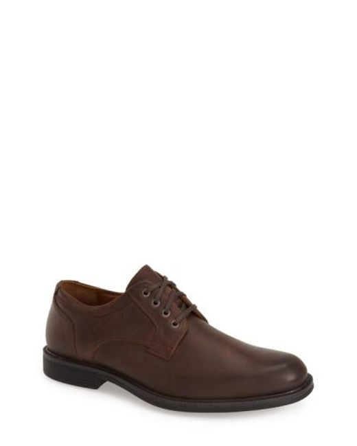 Johnston & Murphy | Brown 'cardell' Plain Toe Derby for Men | Lyst