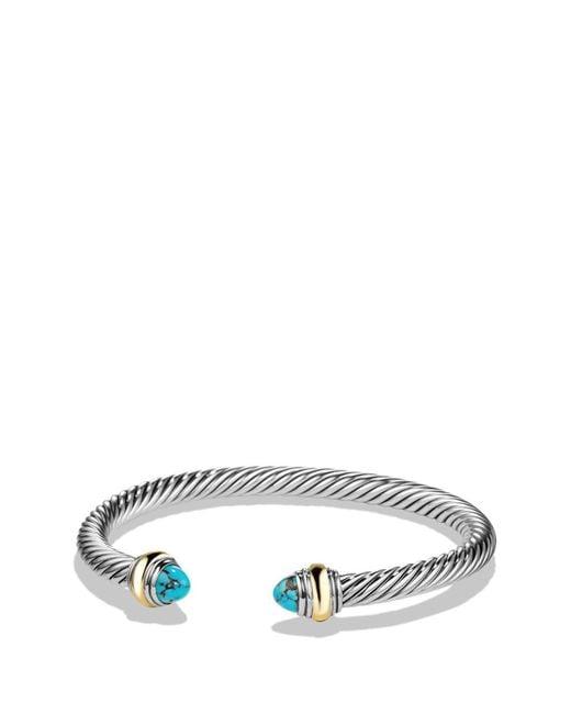 David Yurman - Blue Cable Classics Bracelet With Semiprecious Stones & 14k Gold Accent - Lyst