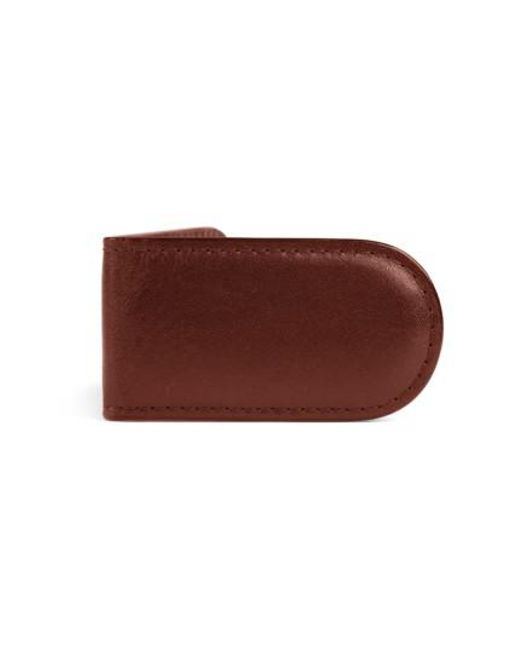 Bosca - Brown Leather Money Clip for Men - Lyst