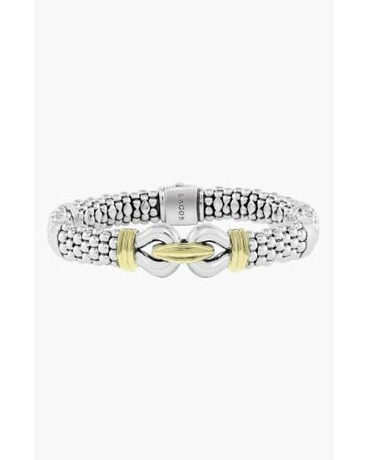 Lagos | Metallic 'derby' Two-tone Caviar Rope Bracelet (online Only) | Lyst