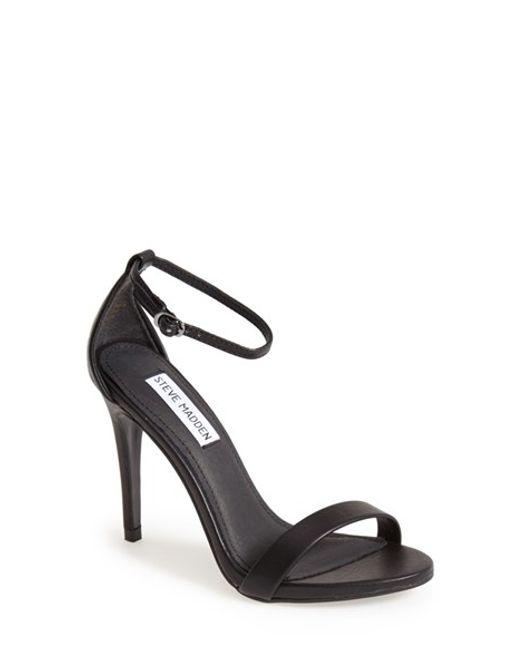 Steve Madden | Black 'stecy' Sandal | Lyst
