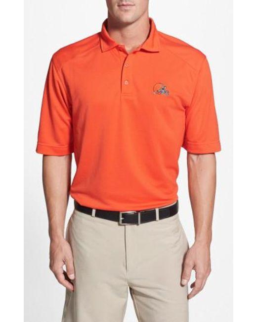 Cutter & Buck   Orange 'Cleveland Browns - Genre' Drytec Moisture Wicking Polo for Men   Lyst