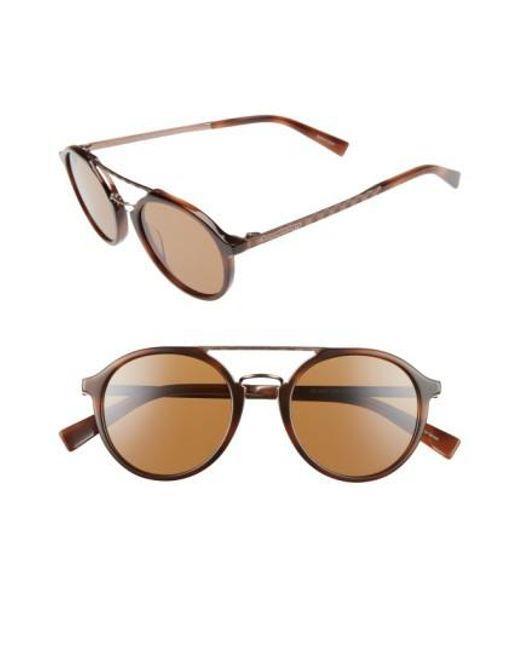 Ermenegildo Zegna | Retro 50mm Sunglasses - Havana/ Light Bronze/ Brown for Men | Lyst