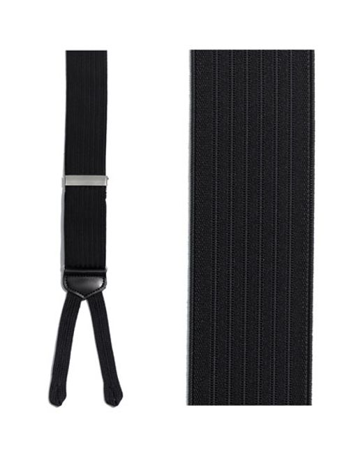 Trafalgar | Black 'formal Regal' Suspenders for Men | Lyst