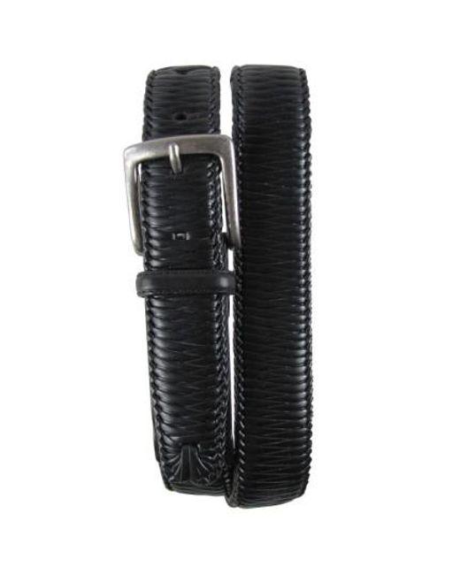 Tommy Bahama | Black 'largo' Woven Leather Belt for Men | Lyst
