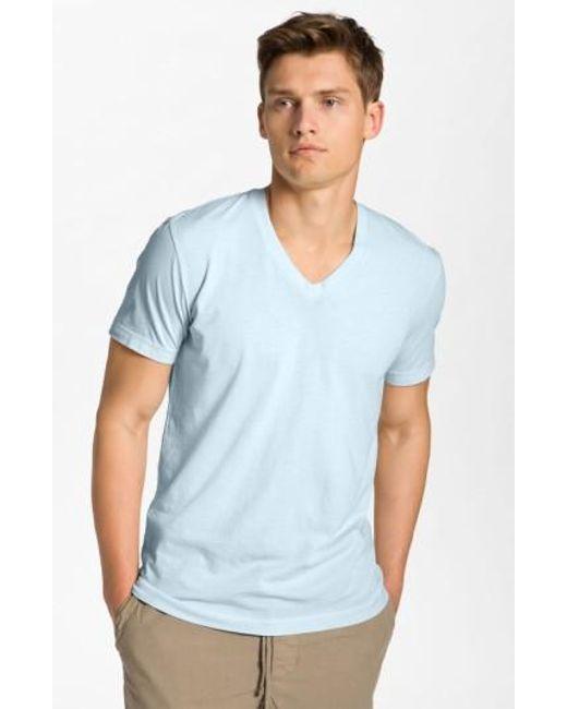 James Perse | Blue Short Sleeve V-neck T-shirt for Men | Lyst