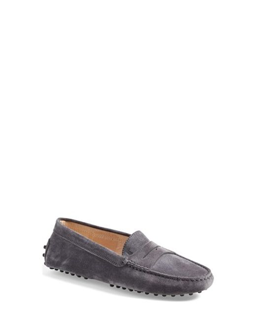 Tod's | Gray 'gommini' Driving Moccasin | Lyst