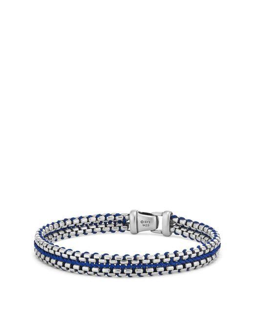 David Yurman - Blue Woven Box Chain Bracelet for Men - Lyst