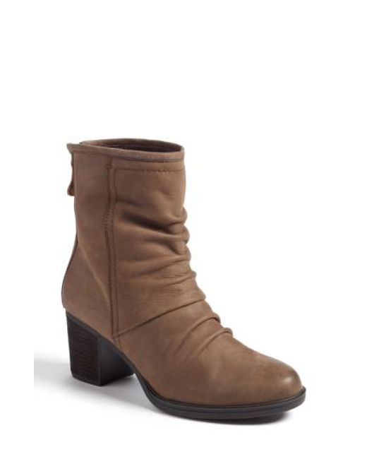 Cobb Hill | Brown Natashya Slouchy Block Heel Bootie | Lyst