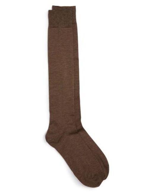 John W. Nordstrom   Blue John W. Nordstrom Over The Calf Egyptian Cotton Blend Socks for Men   Lyst