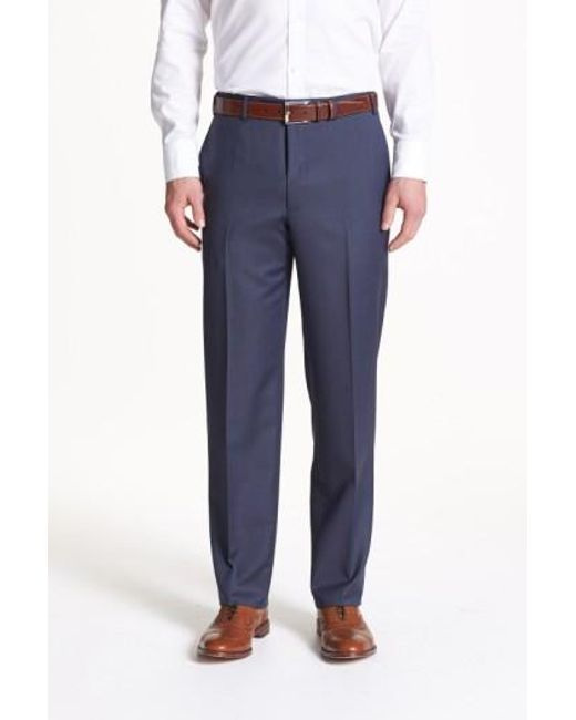 Canali | Brown Flat Front Wool Trousers for Men | Lyst