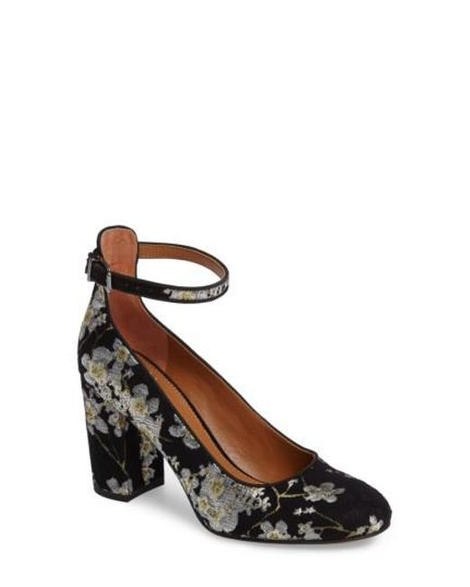 Sarto | Black Abbington Ankle Strap Pump | Lyst
