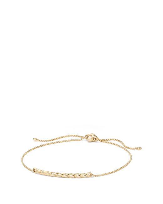 David Yurman - Metallic Paveflex Station Bracelet In 18k Gold - Lyst