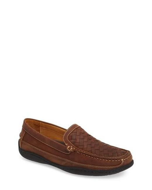 Johnston & Murphy - Brown Fowler Woven Loafer for Men - Lyst