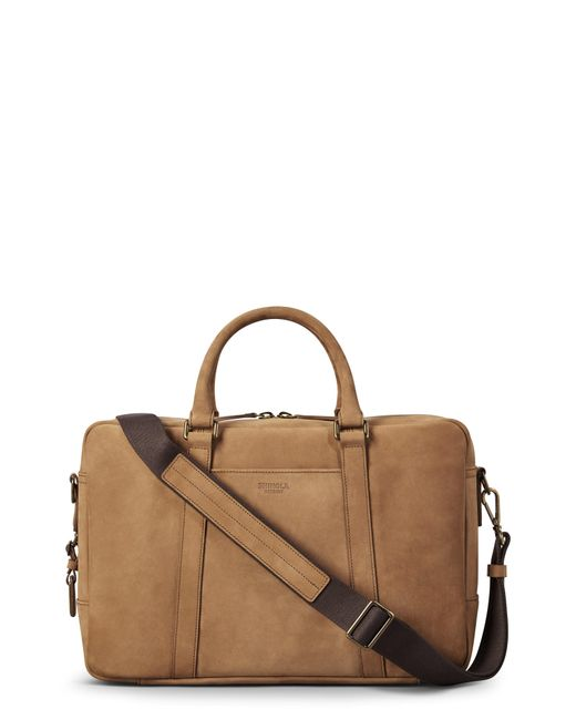 Shinola - Brown Outrigger Slim Leather Briefcase - for Men - Lyst