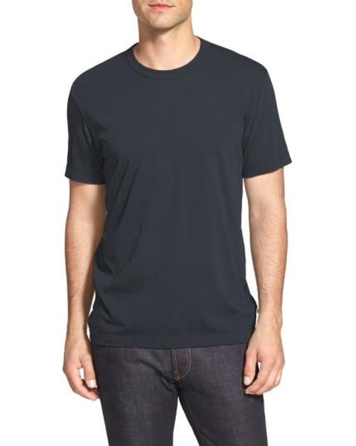 James Perse | Black Crewneck Jersey T-shirt for Men | Lyst