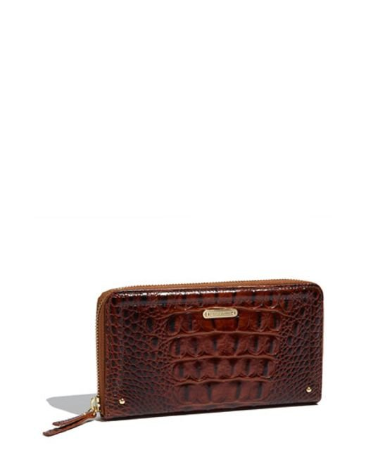 Brahmin | Brown 'suri' Zip Around Wallet | Lyst