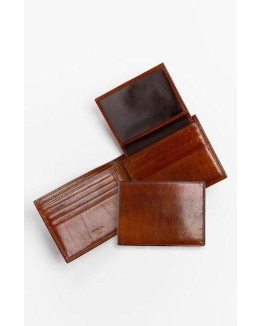 Bosca   Brown Id Passcase Wallet for Men   Lyst