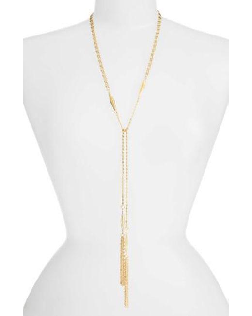 Karine Sultan | Metallic Lariat Necklace | Lyst