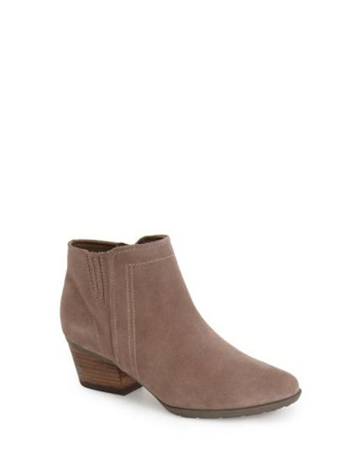 Blondo - Natural Valli Water-Resistant Suede Ankle Boots - Lyst