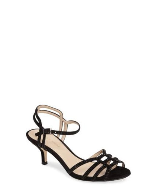 Pelle Moda   Black Alia Embellished Strappy Sandal   Lyst
