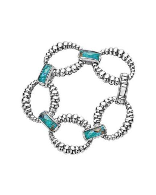Lagos | Blue Maya Fluted Link Bracelet | Lyst
