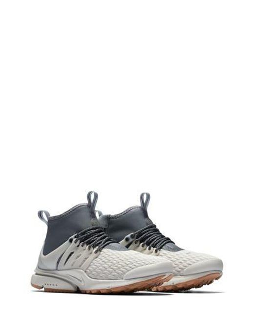 Nike - Gray Air Presto Mid Utility Water Repellent Sneaker for Men - Lyst