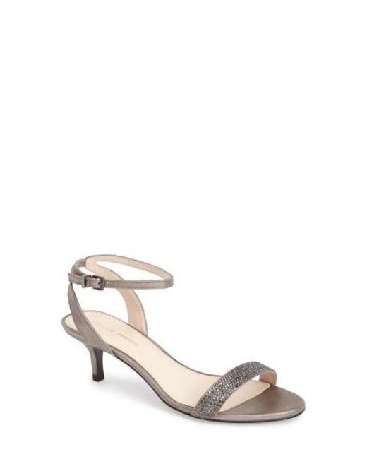 Pelle Moda   Metallic 'fabia' Sandal   Lyst