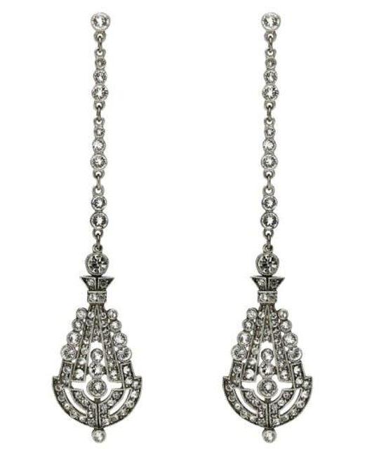 Ben-Amun - Metallic 'deco' Crystal Drop Earrings - Lyst