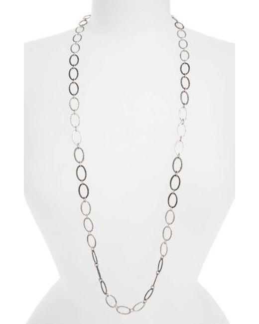 Armenta - Metallic Old World Midnight Oval Link Necklace - Lyst