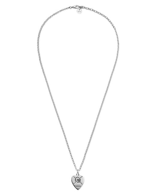 1bd522bd7e2 Lyst - Gucci Ghost Pendant Necklace in Metallic
