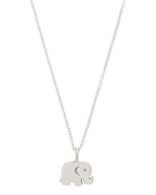 Dogeared | Metallic Good Luck Elephant Pendant Necklace | Lyst