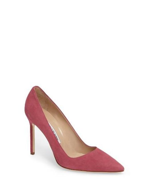 Manolo Blahnik | White 'bb' Pointy Toe Pump | Lyst