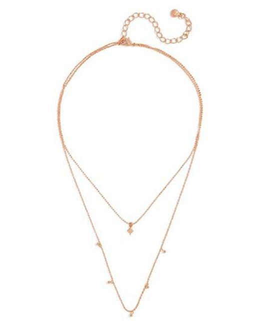 BaubleBar | Metallic Multistrand Necklace | Lyst