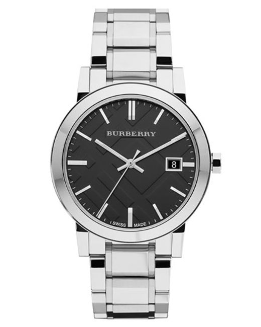 Burberry | Metallic Large Check Stamped Bracelet Watch | Lyst