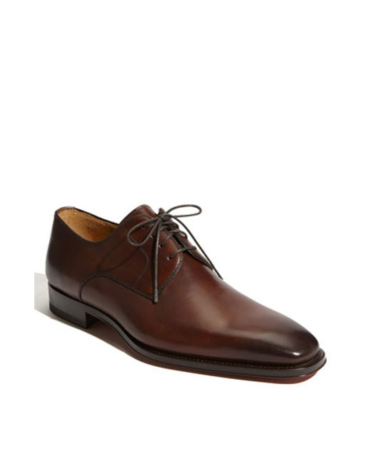 Saks Fifth Avenue | Brown 'colo' Plain Toe Derby for Men | Lyst