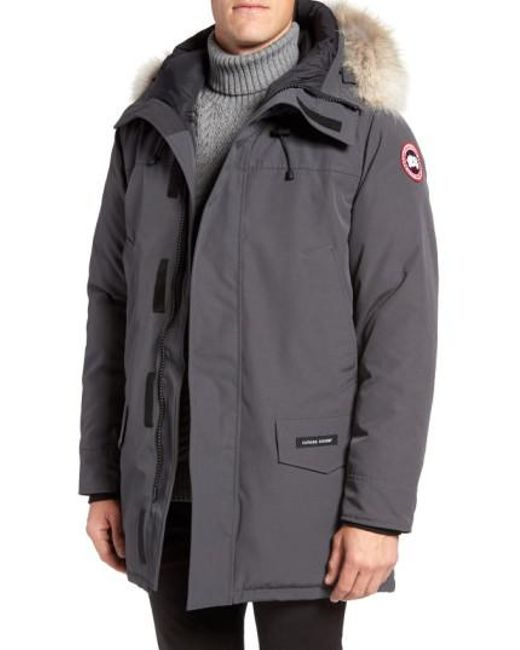 Canada Goose | Black Langford Slim Fit Down Parka With Genuine Coyote Fur Trim for Men | Lyst