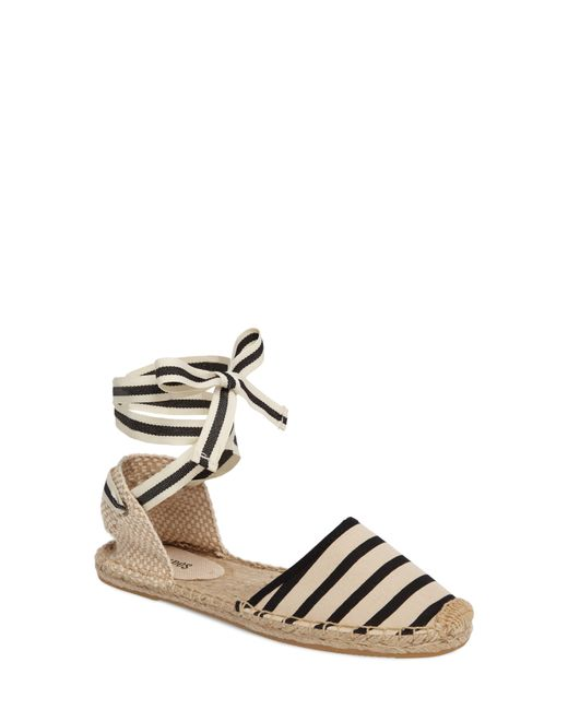 Soludos - White Lace-up Espadrille Sandal - Lyst