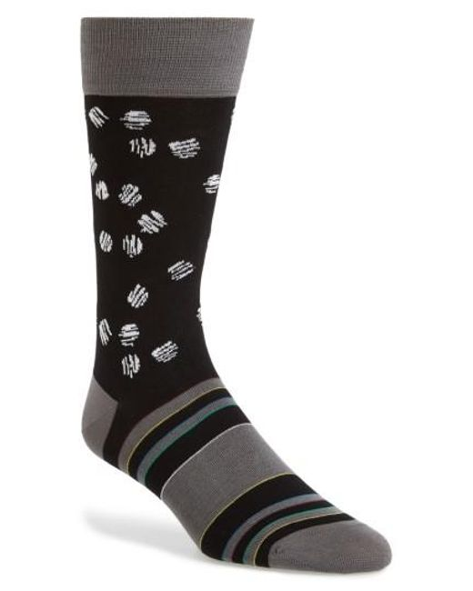 Bugatchi | Black Cotton Blend Socks for Men | Lyst