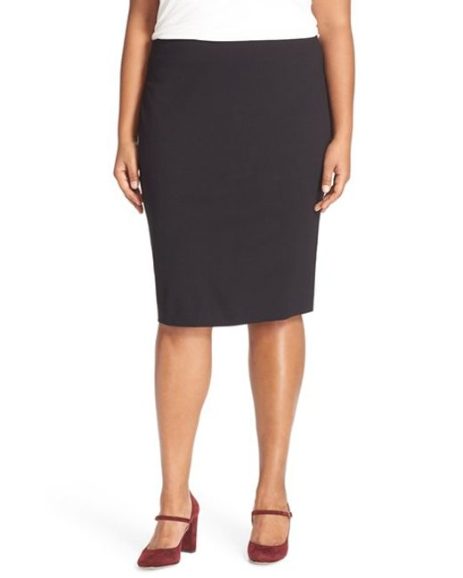 Vince Camuto | Black Ponte Knit Skirt | Lyst