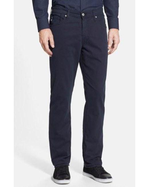 AG Jeans - Blue Graduate Sud Slim Straight Leg Pants for Men - Lyst