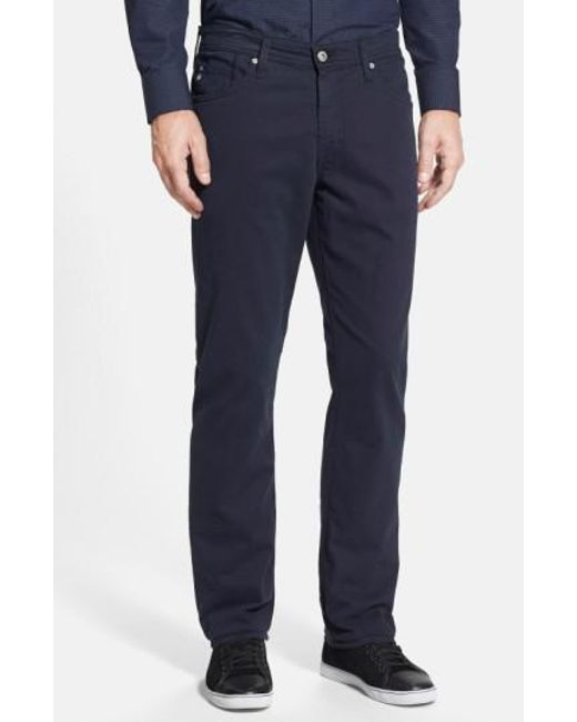 AG Jeans | Blue Graduate Sud Slim Straight Leg Pants for Men | Lyst