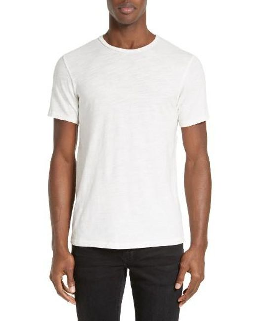 Rag & Bone | Blue Standard Issue Slubbed Cotton T-shirt for Men | Lyst