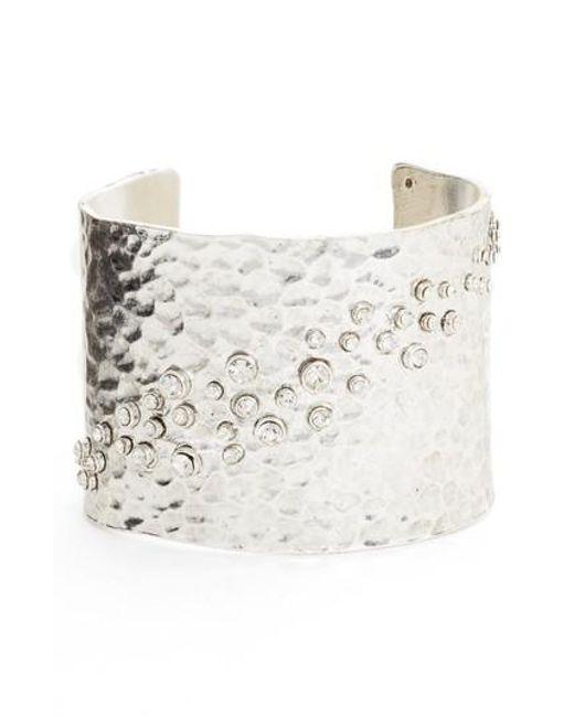 Karine Sultan | Metallic Lou Embellished Cuff | Lyst