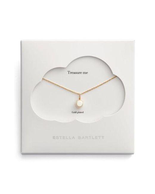Estella Bartlett - Metallic Treasure Me Pearl Necklace - Lyst
