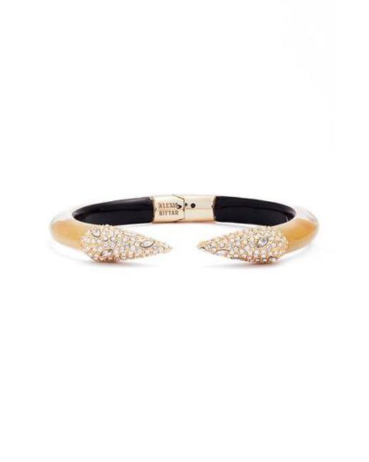 Alexis Bittar | Metallic Encrusted Hinge Bracelet | Lyst